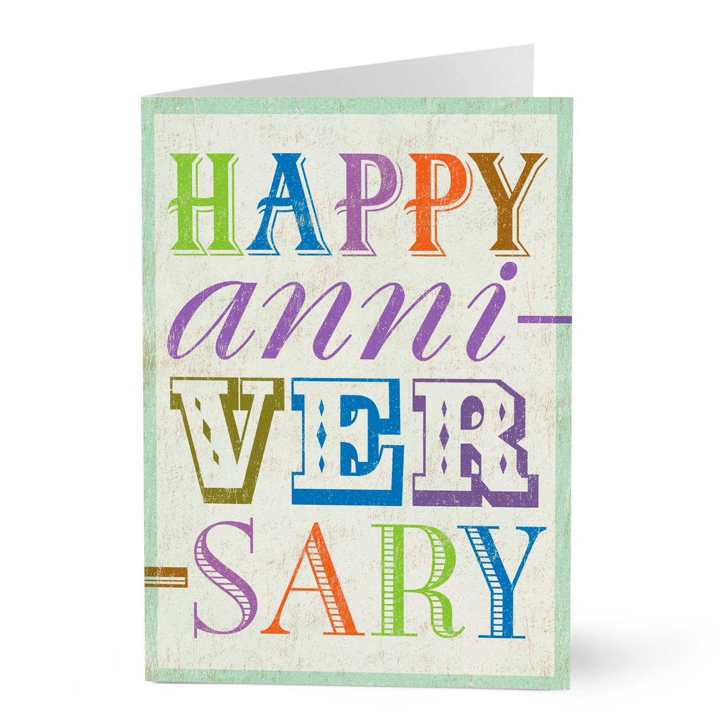 Hallmark Work Anniversary Card (Upbeat Work Anniversary) (Pack of 25 Greeting Cards for Business)