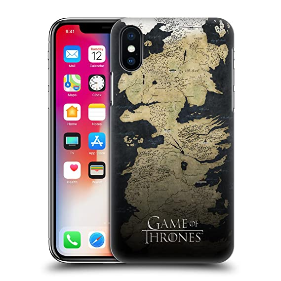 on sale dc1e6 bef03 Official HBO Game of Thrones Westeros Map Key Art Hard Back Case Compatible  for iPhone X/iPhone Xs