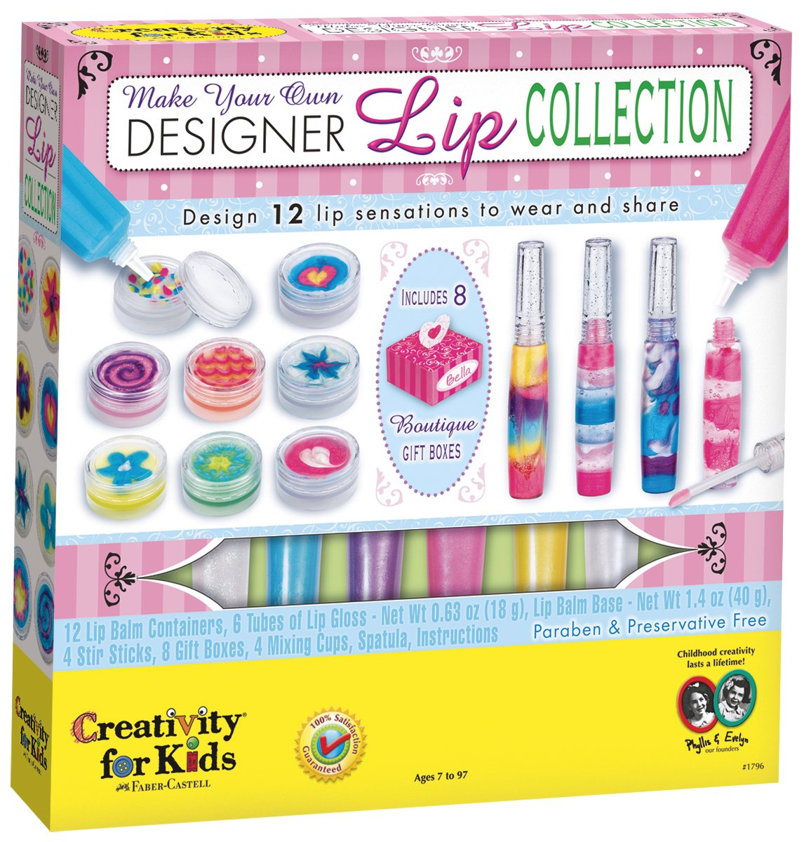 Creativity for Kids Make Your Own Designer Lip Collection - Makes 9 Lip Balms and 3 Lip Glosses