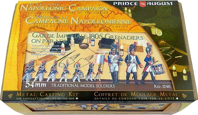 Prince August Kit de iniciación Napoleónico Deluxe de 54 mm, Incluye Pinturas de Color Modelo Vallejo PA1240: Amazon.es: Juguetes y juegos