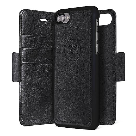 5 opinioni per Custodia iPhone 7 plus, SAVFY 2 in 1 Flip Magnetica Custodia in pelle per iPhone