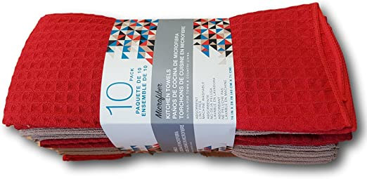 Amazon.com: Town & Country Microfiber Kitchen Towels 10 Pack ...