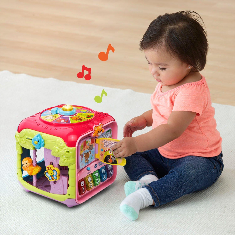 VTech Sort & Discover Activity Cube, Pink by VTech (Image #6)