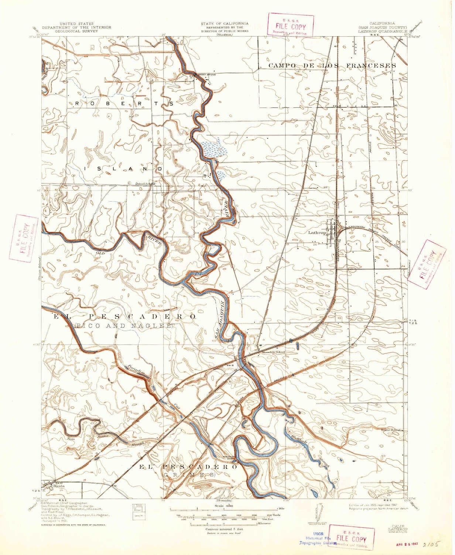 Amazon Com Yellowmaps Lathrop Ca Topo Map 1 31680 Scale 7 5 X 7 5