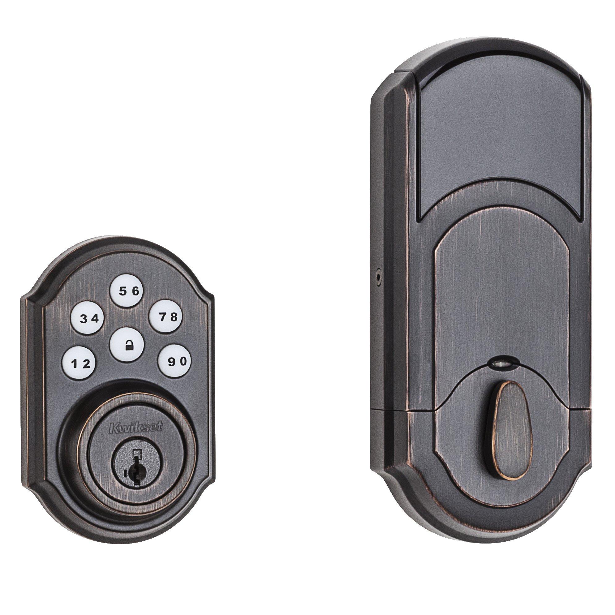 Kwikset 99100-045 SmartCode ZigBee Touchpad Smart Lock works with Echo Plus & Alexa, featuring SmartKey, Venetian Bronze by Kwikset (Image #3)