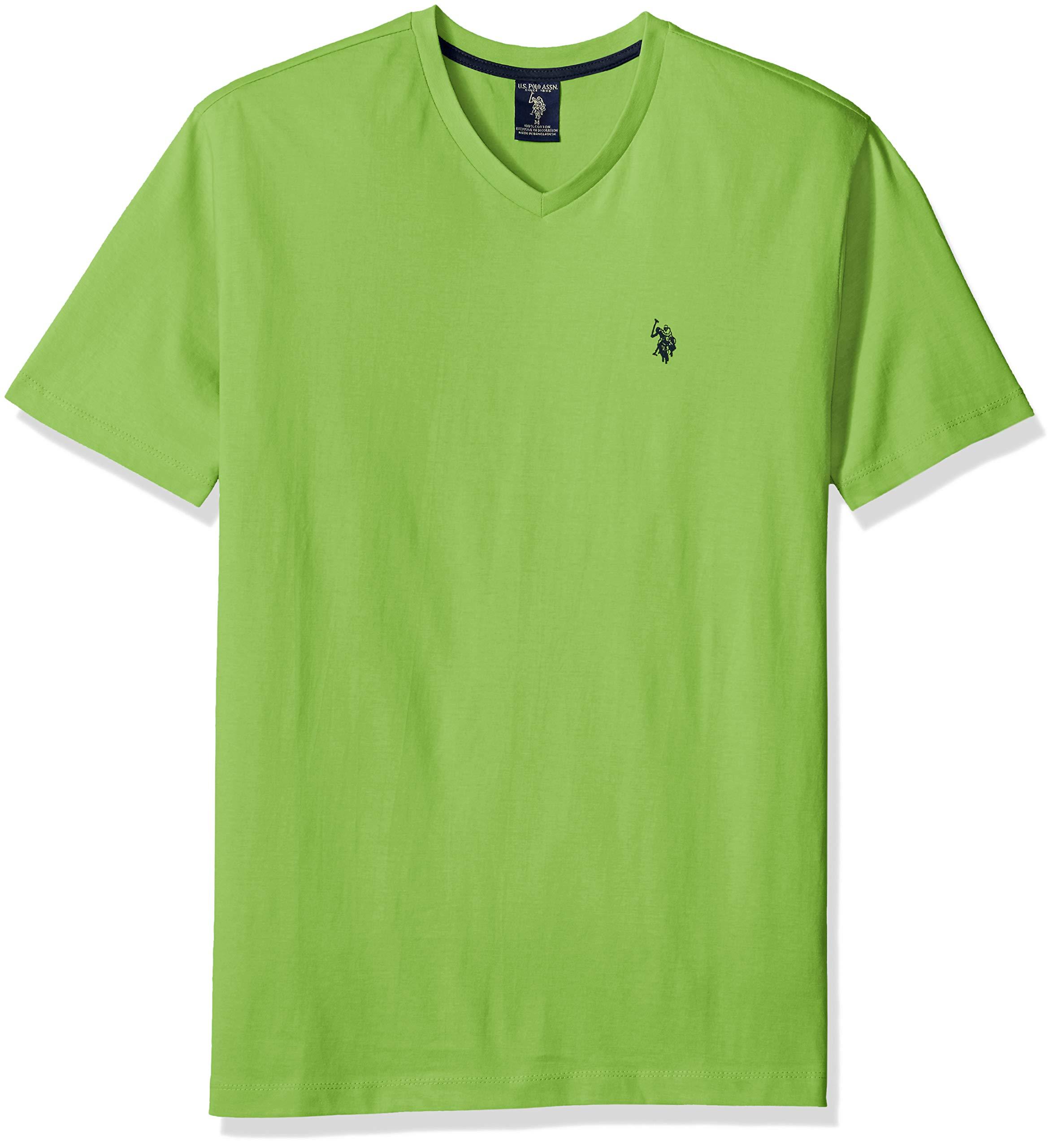 U.S. Polo Assn. Men's V-Neck T-Shirt, Summer Lime, L