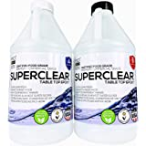 Superclear Premium Amazing Clear Cast Epoxy Pourable Resin, Food Safe Epoxy for Wood Tables, Concrete Countertop Sealers, Org