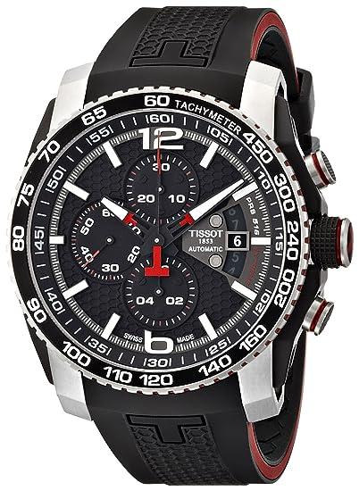 Tissot - Reloj de Pulsera con Cronógrafo, Automático, Correa de Caucho T079.427.27.057.00: Amazon.es: Relojes