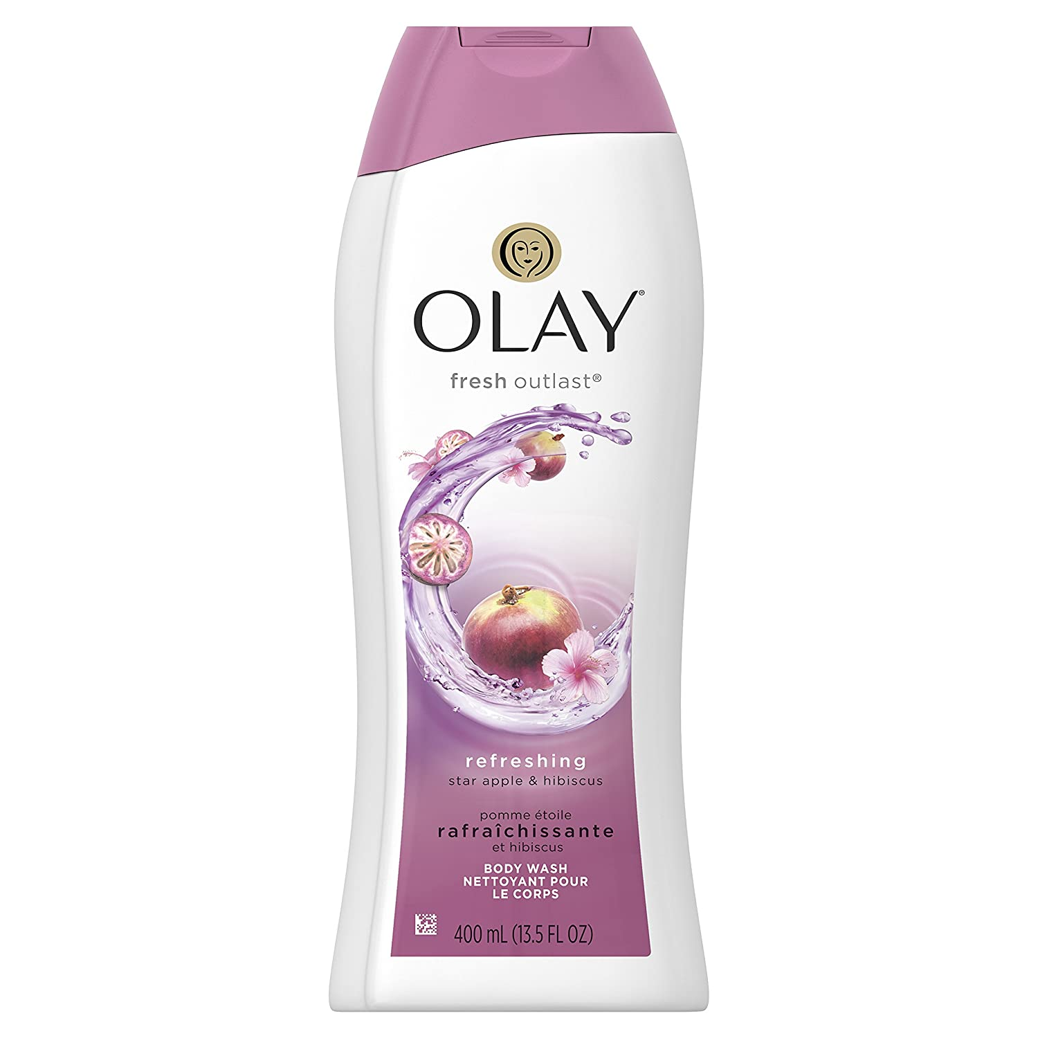 Olay Fresh Outlast Star Apple and Hibiscus Body Wash, 400 ml Procter and Gamble