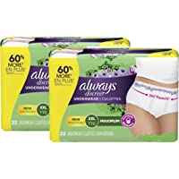 Always Discreet Always Discreet, Incontinence Underwear for Women, Maximum Protection, Xxl, 44 Count, 44 Count
