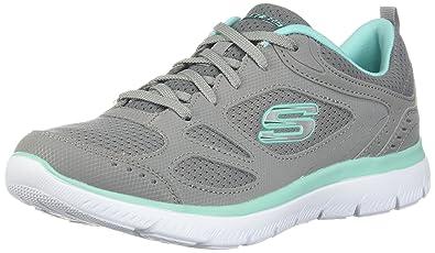 Skechers Summits Suited Damen Sneaker schwarz weiß 1701714