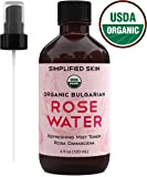 Rose Water for Face & Hair, USDA Certified Organic Facial Toner. Alcohol-Free Makeup Setting Hydrating Spray Mist. 100…