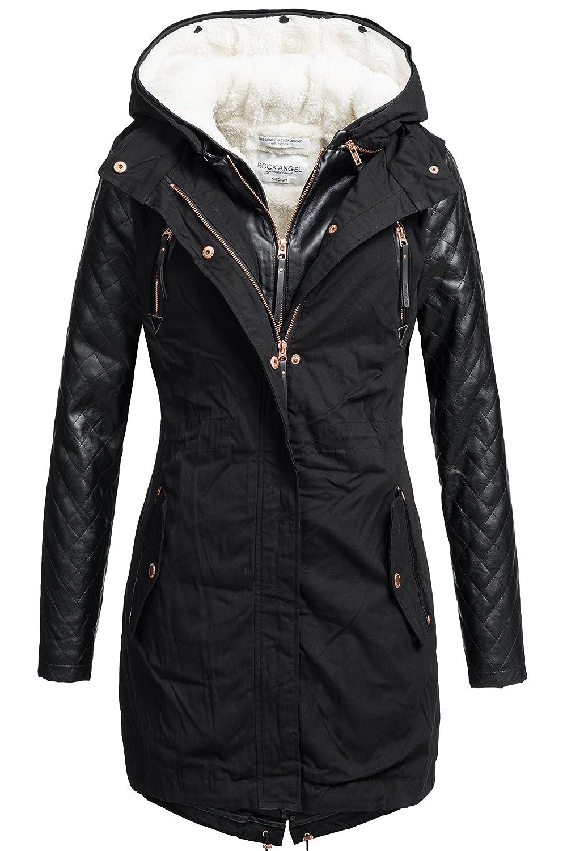 Rock Angel 2in1 Damen Winter Mantel mit herausnehmbarer Innenjacke 44265BRS