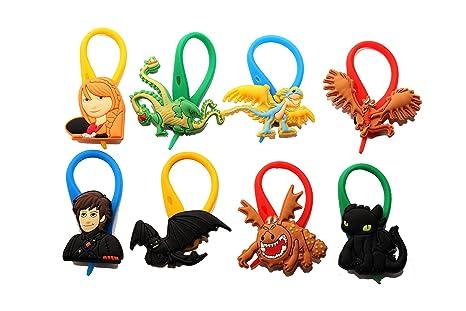 AVIRGO 8 piezas Coolorido Soft Zipper Pull Cremalleras Set # Adornos para Cazadoras Bolsas Cremalleras Set