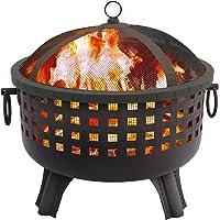 Landmann USA Landmann Garden Lights Savannah 28.5 in. Round Fire Pit - Black