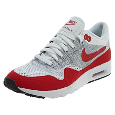 1fd13664ff36e Nike Air Max 1 Ultra Flyknit Women s Running Shoes White University Red Pure  Platinum