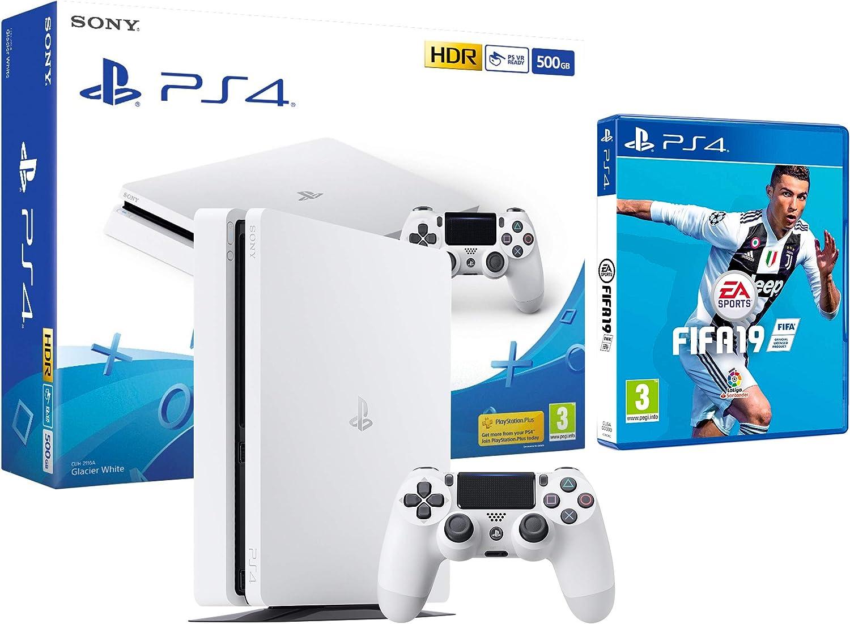 PS4 Slim 500Gb Blanca Playstation 4 Consola + FIFA 19: Amazon.es: Videojuegos