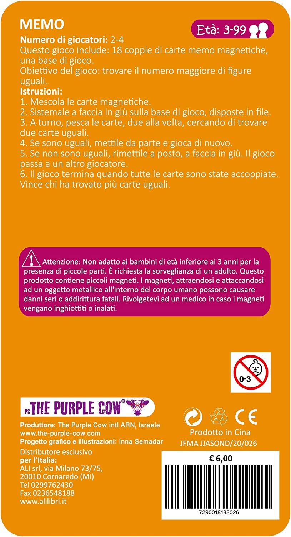 Juego de Memoria magn/ética 7290018133026 Purple Cow