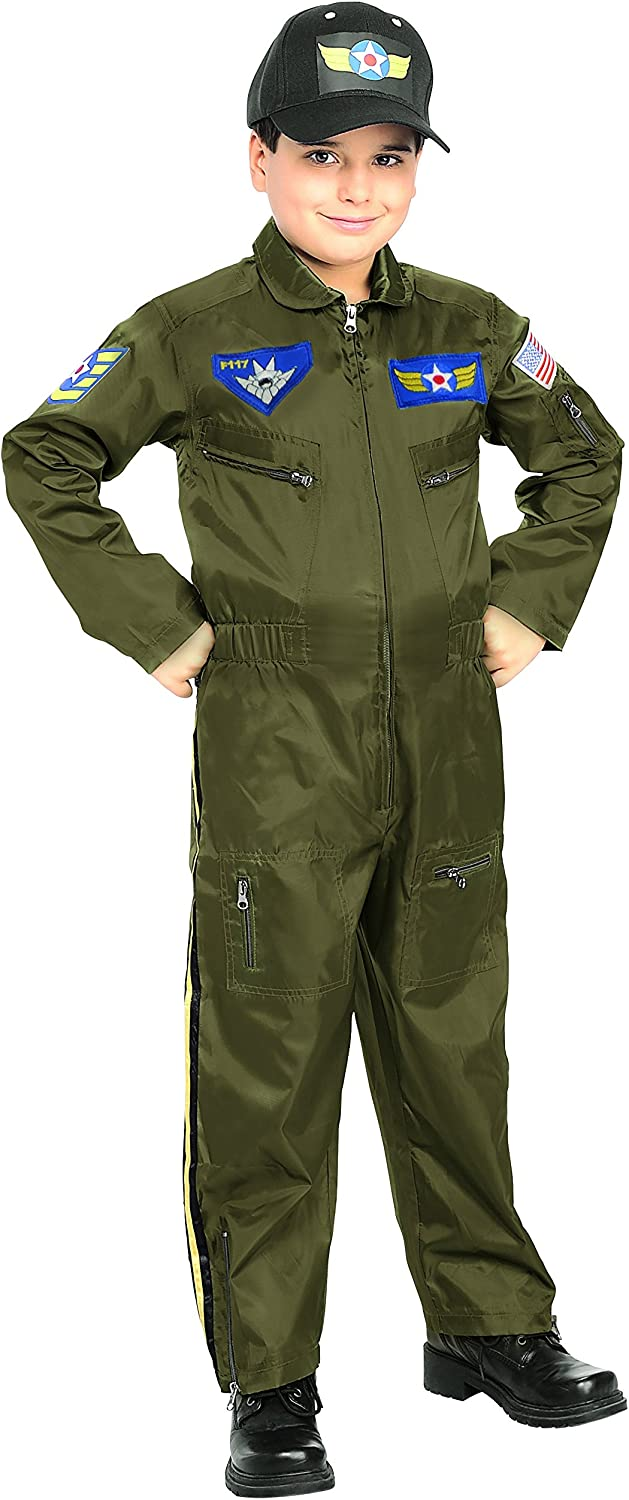 B000RZGWNC Rubies Young Heroes Air Force Fighter Pilot Child Costume, Toddler, One Color 81Qh9bEowDL