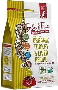 Tender & True Organic Turkey & Liver Recipe Dog Food, 11 lb
