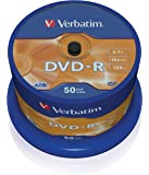 "Verbatim 43521"" DVD-R AZO 4,7 GB Spindel. 50 Stuk zilver"
