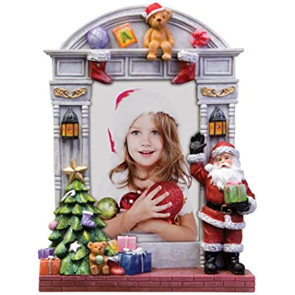 4 X 6 Light Up Christmas Resin Picture Frame Wsanta Claus And
