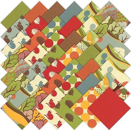 Neco Moda Charm Pack By MoMo; 42 - 5 Precut Fabric Quilt Squares ...