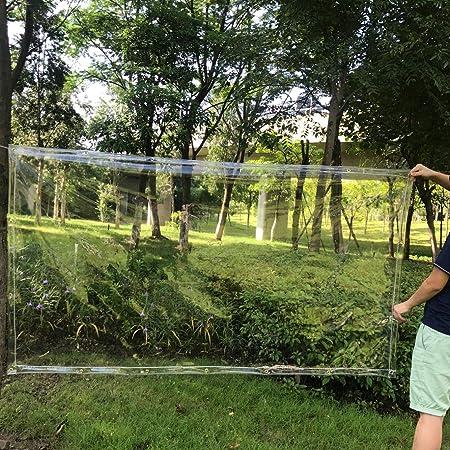 ZAQI Lona Cubierta de Lona de jardín para Plantas de Flores, Lonas pequeñas de PVC Transparente con Arandelas para Carpa de toldo, Barco, Cubierta de Piscina, 0.5 mm (Size : 1.9×1.7M): Amazon.es: