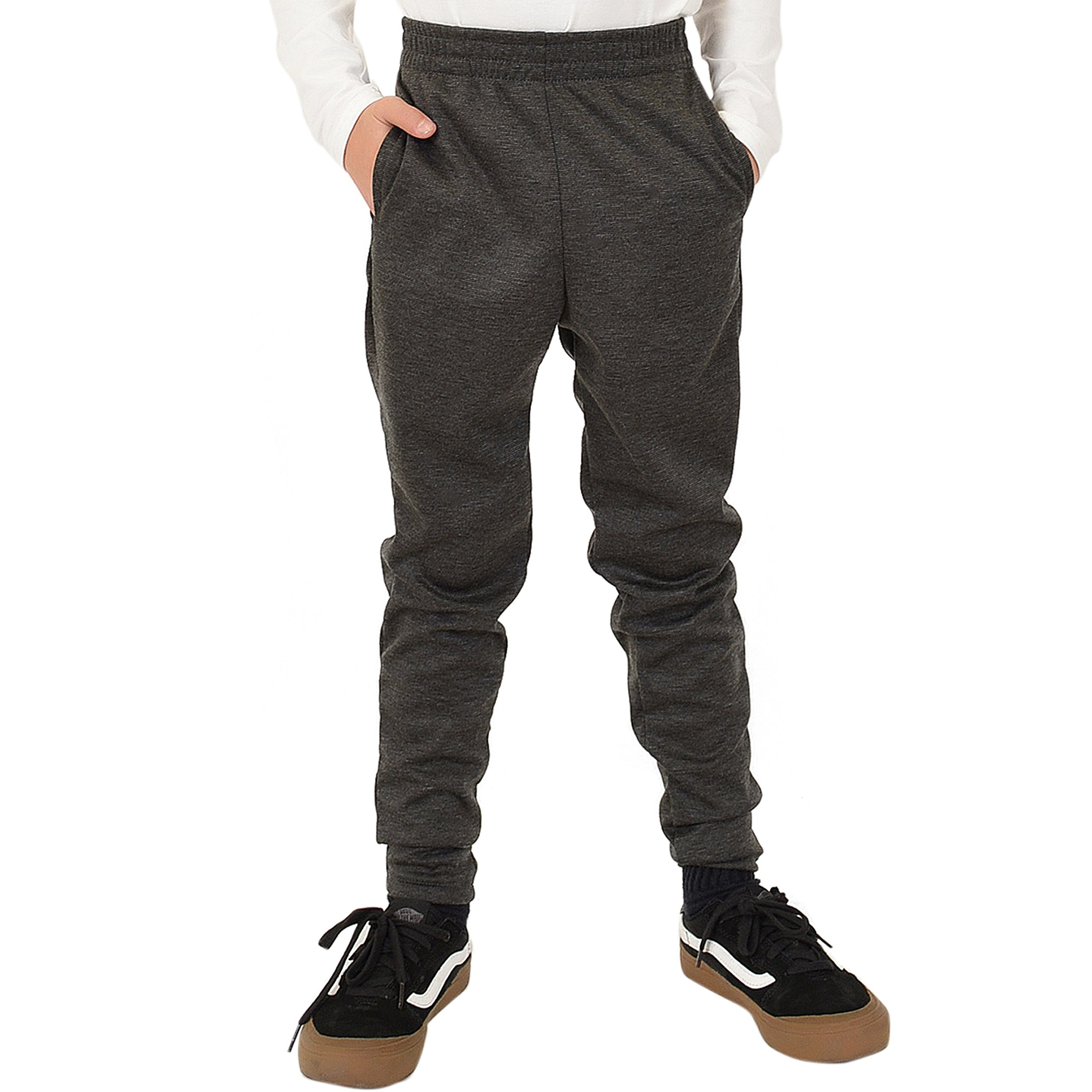 Stretch is Comfort Boy's Slim Fit Jogger Play Pant Charcoal Gray Large