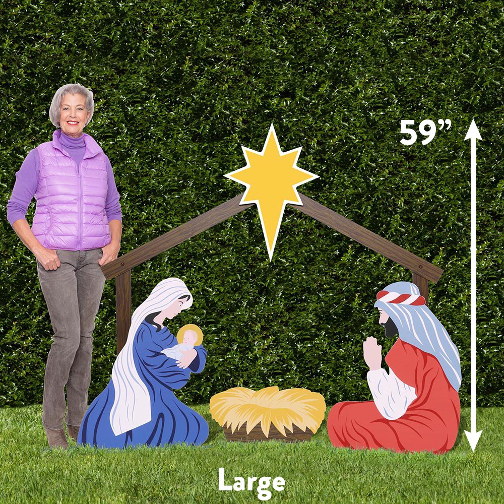 Outdoor Nativity Store Holy Family Outdoor Nativity Set (Large, Color) by Outdoor Nativity Store (Image #2)