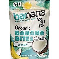 Barnana Organic Chewy Banana Bites - Coconut - 3.5 Ounce - Delicious Barnana Potassium Rich Banana Snacks - Lunch Dinner…
