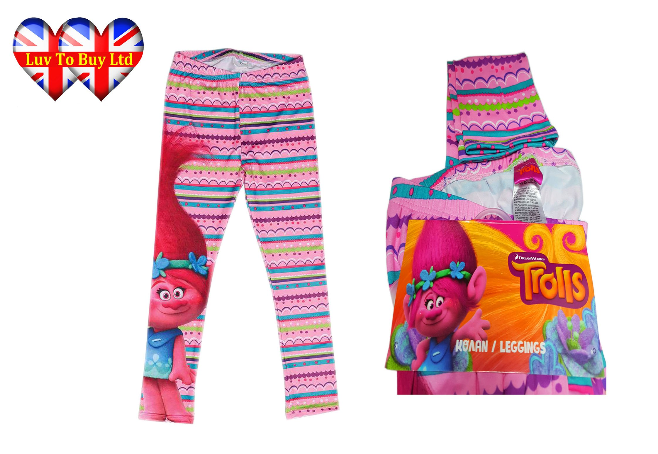 Leggings Licensed Product Trouser Trolls Poppy Girls Legging