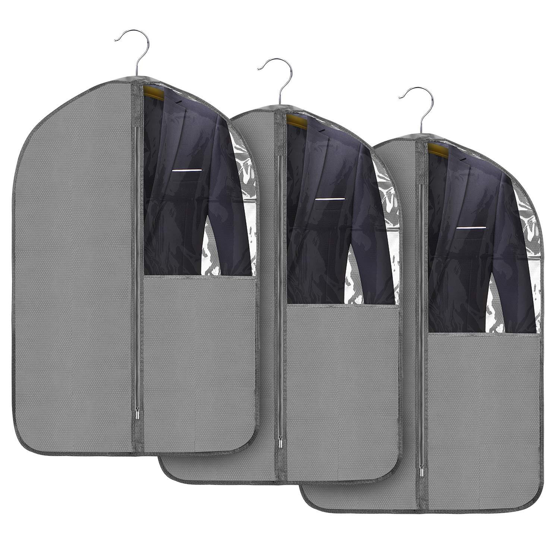 5246c93739e9d 24 x 53 Jorlyen Housse de Vêtements Pliable Housse de Costume Manteaux avec  Fenêtre Transparente et ...