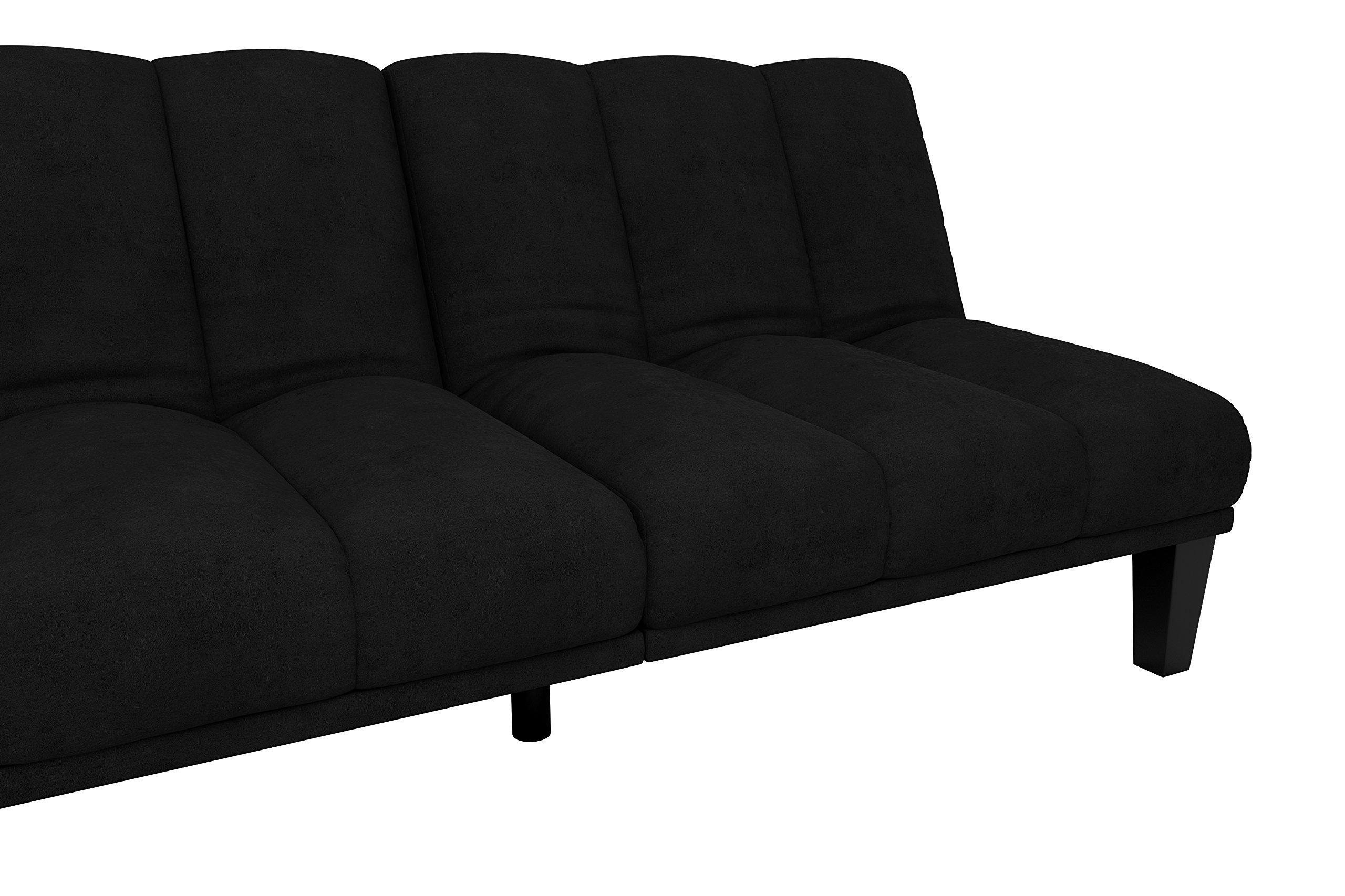 Hamilton Estate Premium Sofa Futon Sleeper Comfortable Plush Upholstery, Rich Black by DHP (Image #8)
