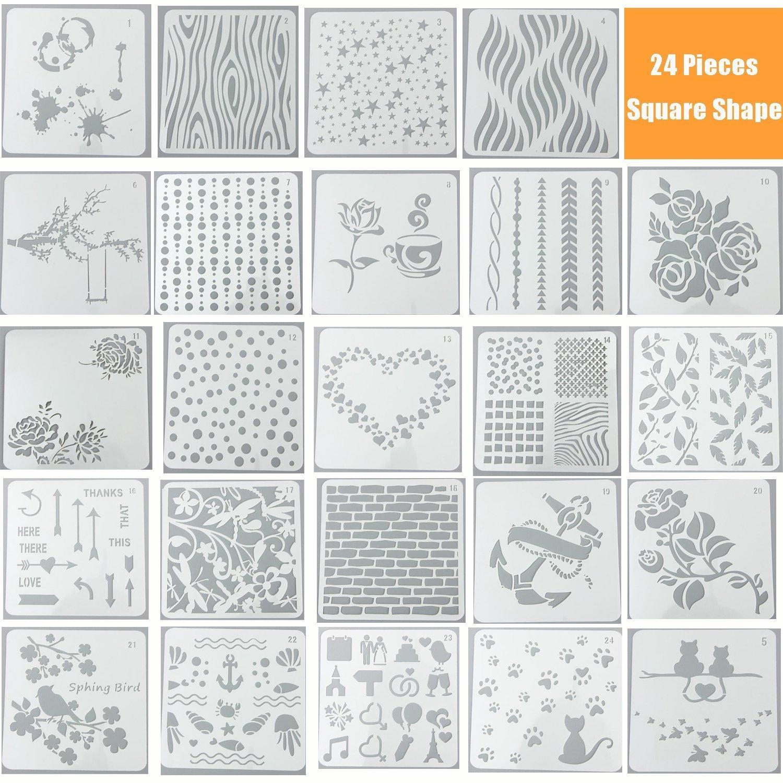 Templates Stamp Paper Card Stencils Scrapbooking Multi Style Diy Children Pp Home