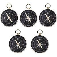 JZK 5 x 44 mm klein aluminium-kompas met lus bovenop voor sleutelring, hanger, verjaardagsfeest, cadeau voor kinderen