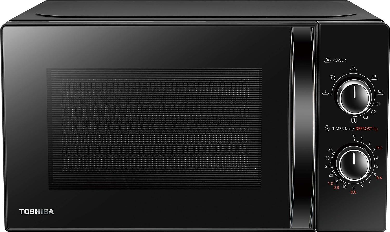 Toshiba MW-MG20P (BK) Horno microondas con grill 800 W con Crispy Grill 1000 W, 20 L