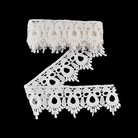 6cm Beautiful silver beaded lace trim for designing arts crafts decor 1 metre