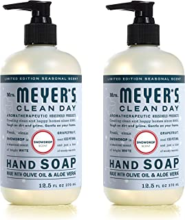 product image for Limited Edition Scent Mrs. Meyer's Clean Day - SNOWDROP Hand Soap 12.5oz - 2-PACK