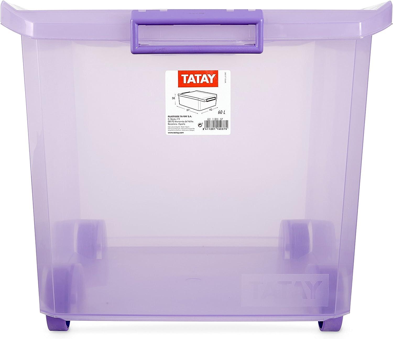 Tatay 1150313 Caja Grande de Almacenamiento Multiusos con Tapa y ...