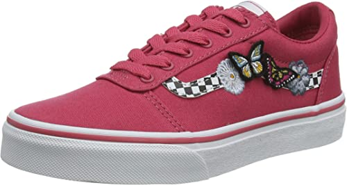 Vans Ward Canvas, Mädchen Bas, Pink ((Butterflies) Claret RedWhite Wg4), 34 EU (2.5 UK)