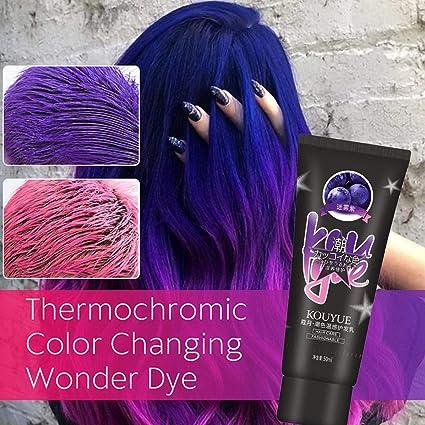 Magic - Tinte termochromico que cambia de color crema para el ...