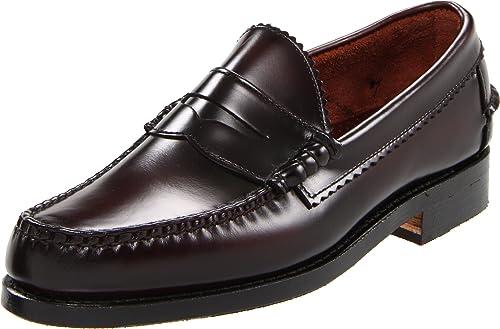Allen Edmonds - Mocasines de Cuero para Hombre Burgundy: Amazon.es: Zapatos y complementos