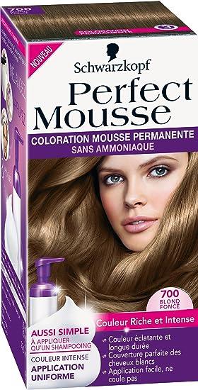 schwarzkopf perfect mousse coloration permanente blond fonc 700 - Coloration Blond Fonc