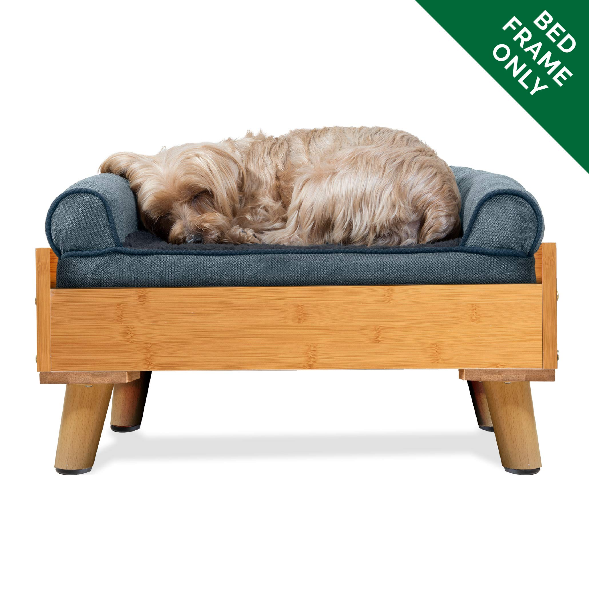 Furhaven Pet Dog Bed Frame | Mid-Century Modern Style Bed Frame Furniture for Pet Beds & Mattresses – Available in…