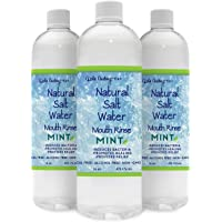 Bundle & Save over 15%, 3 Pack, Natural Hand Mined Pink Himalayan Salt Water Rinse, Mint