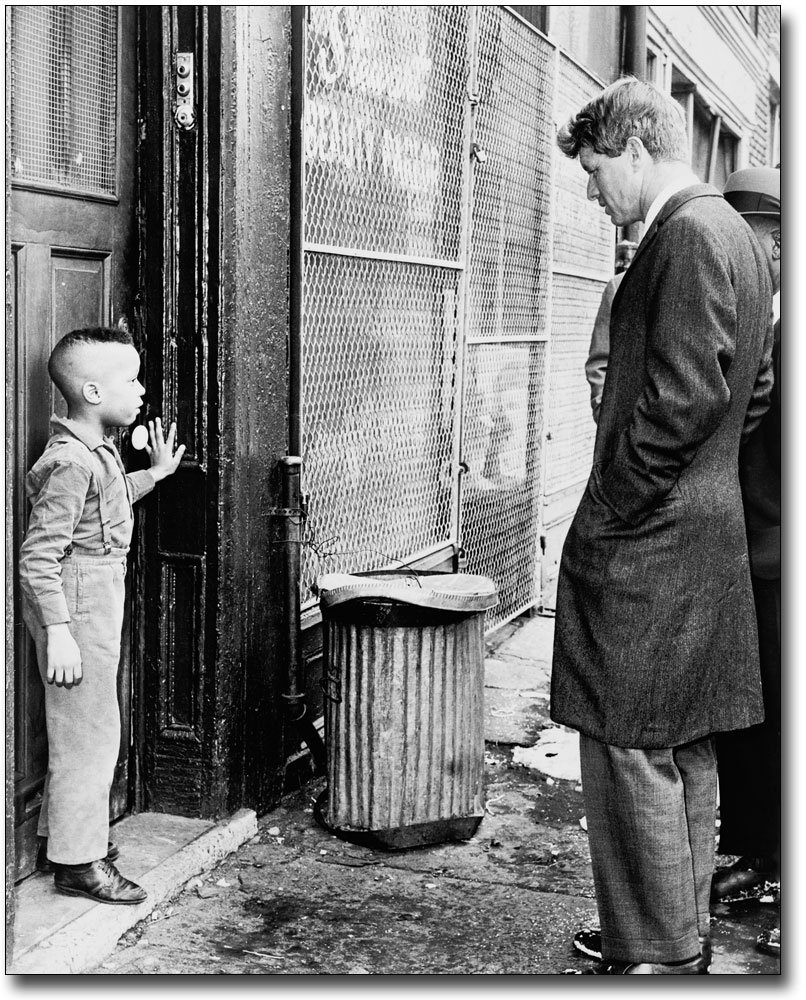 Robert F. Kennedy with Child, Brooklyn 1966 8x10 Silver Halide Photo Print The McMahan Photo Art Gallery & Archive