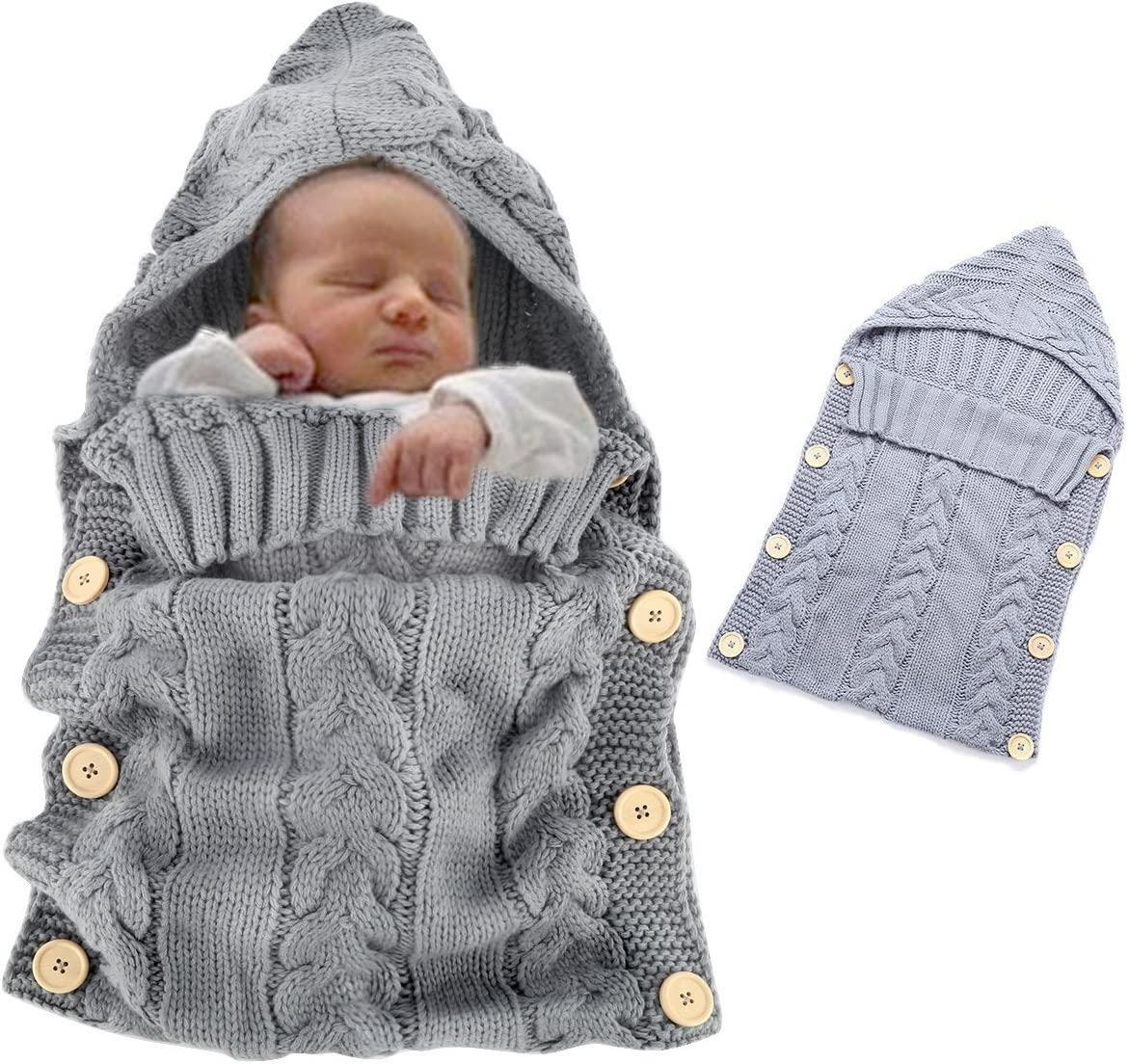 Baby Sleeping Bag Weant Newborn Swaddle Sleeping Wrap Blanket Cute Toddlers Infant Baby Boy Girl Unisex Fleece Swaddle Blanket Photography Prop for 0-12 Months