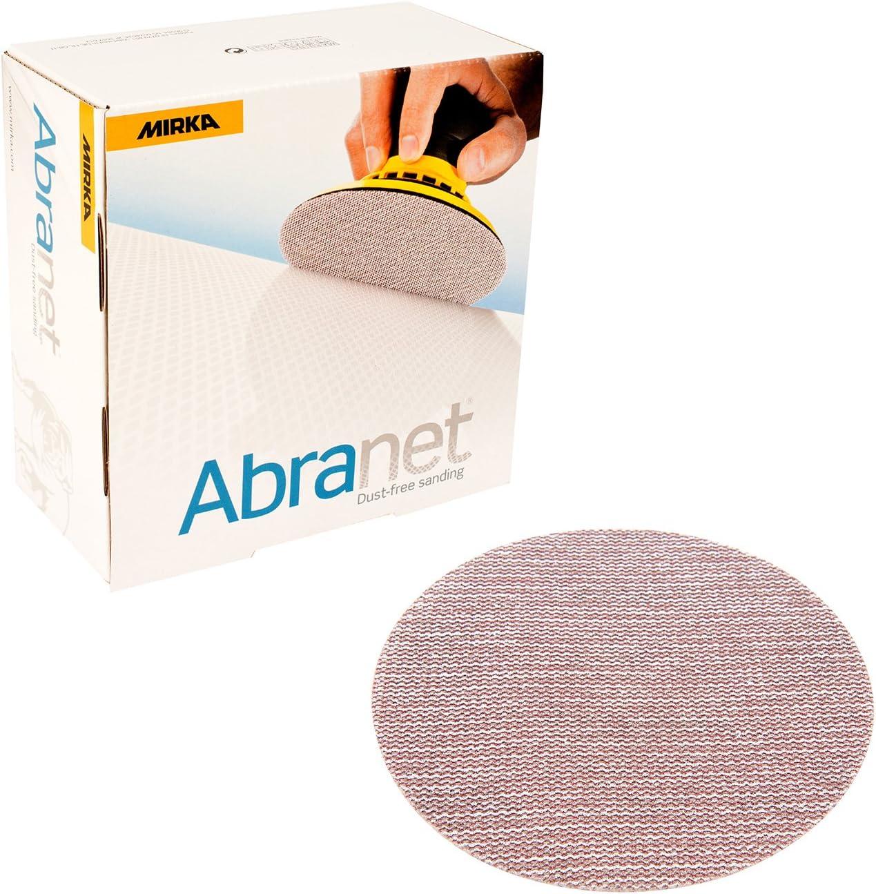 """Mirka 9A-241-AP Abranet 6"""" Sanding Disc Assortment, 35 pack"""