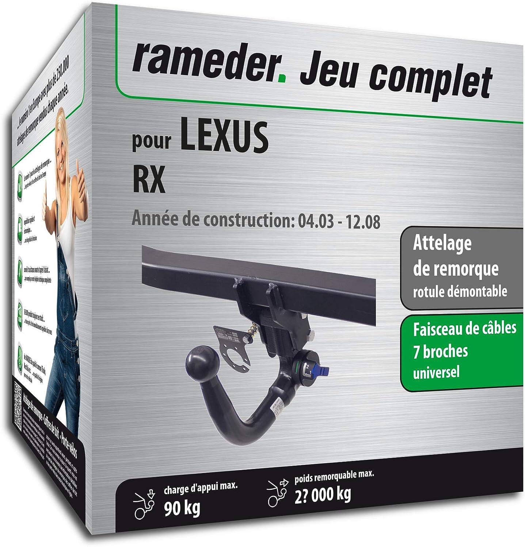 Attelage Amovible pour LEXUS RX 143688-05001-1-FR faisceau 7 broches